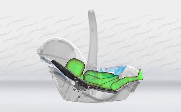 Patentert teknologi som trygt og behagelig lar barnet ha en god hvilestilling